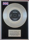 "JACKIE WILSON  - 7"" Platinum Disc - HIGHER AND HIGHER"